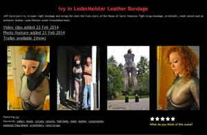 House of Gord: Ivy in LederMeister Leather Bondage (3 Clip)