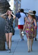 Andie MacDowell out with daughter Sarah in Venice 11/04/12