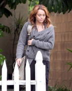 Miley Cyrus at Liam Hemsworth's house in Beverly Hills, June 9, 2011